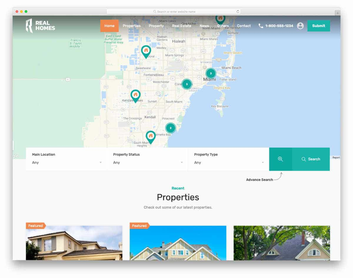 Fake Website Templates for real estate websites
