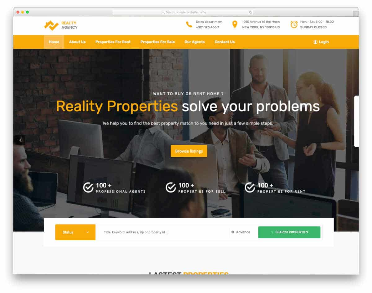 real estate consultancy and real estate investor templates