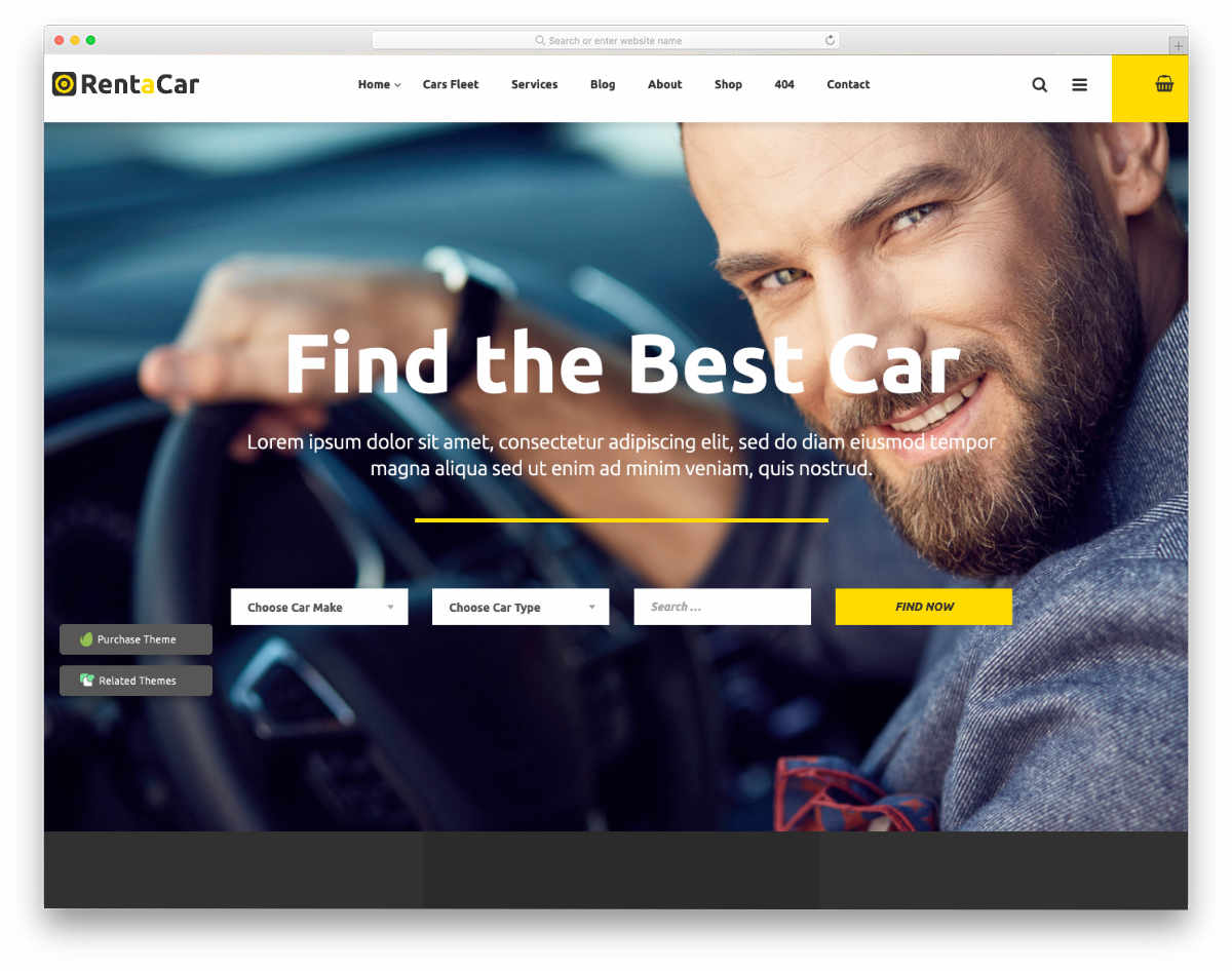 straightforward website template