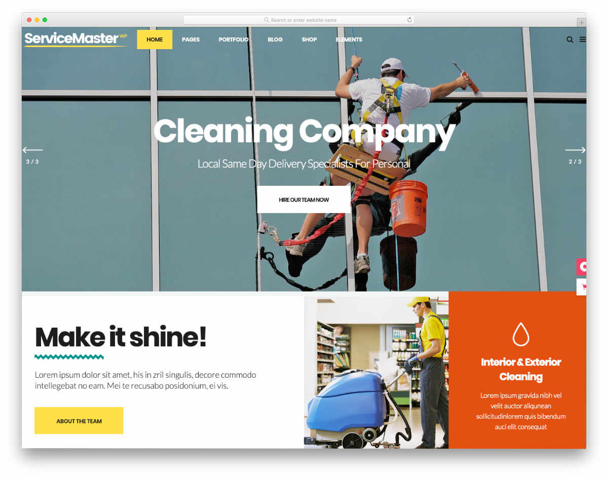 website template for all types of service business websites