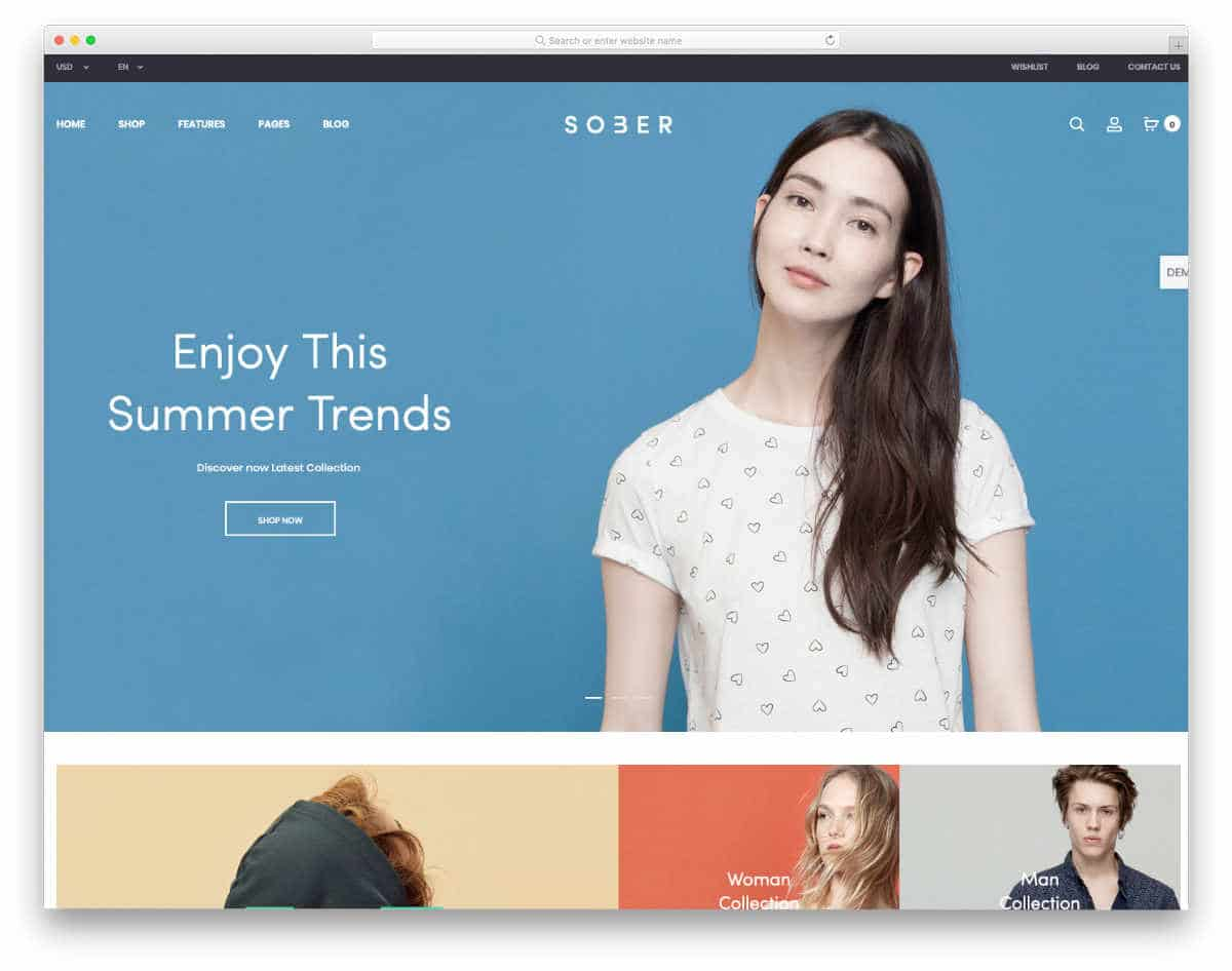 image-rich online store templates