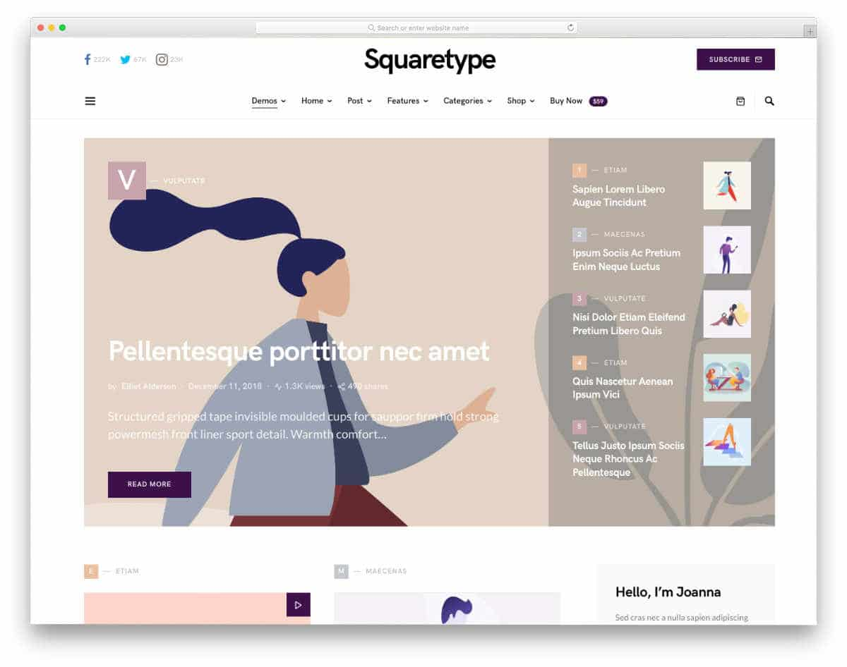 accessible blog theme