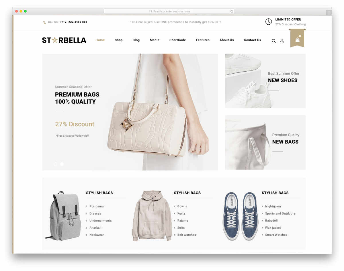 clean multipurpose ecommerce website templates