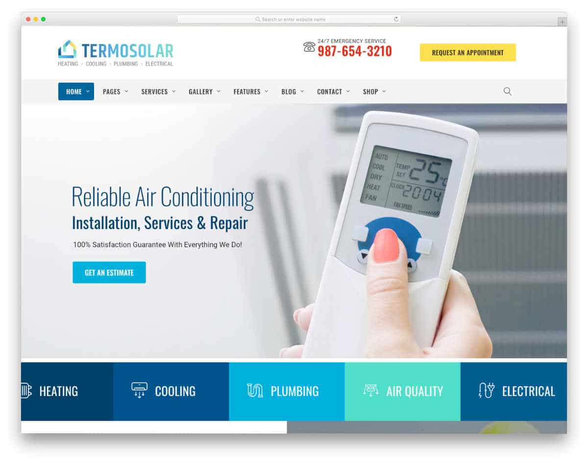 conventional website template