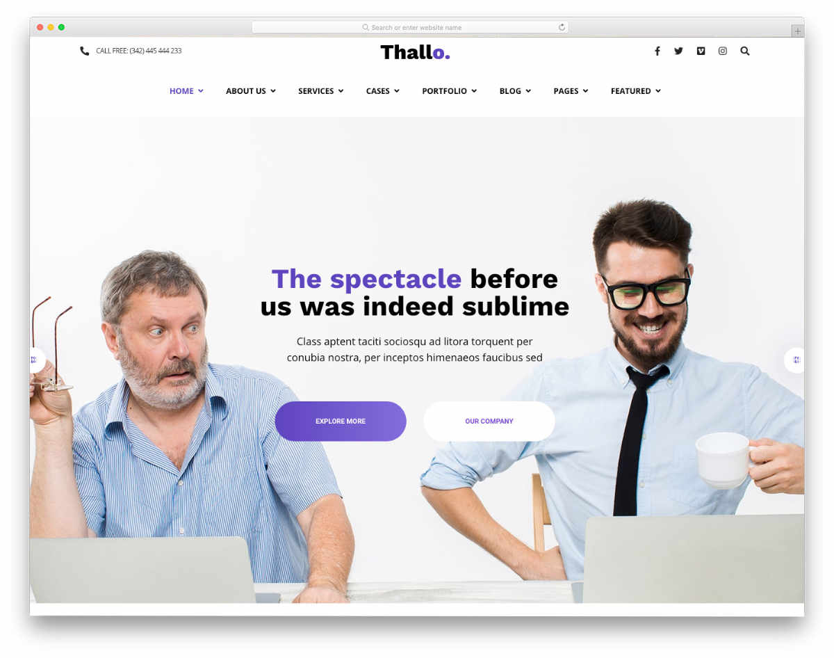 easy-to-manage website template