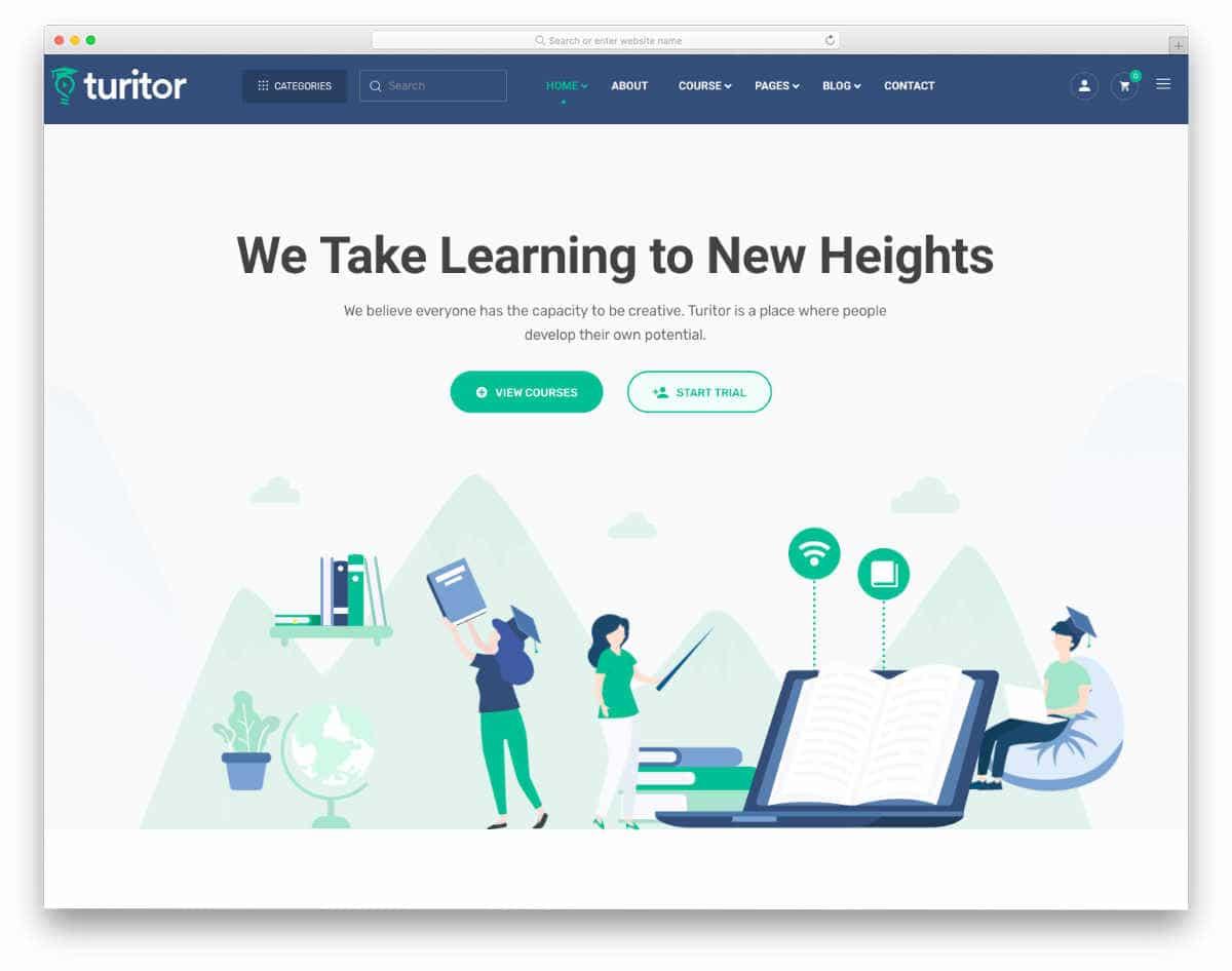 modern futuristic website template
