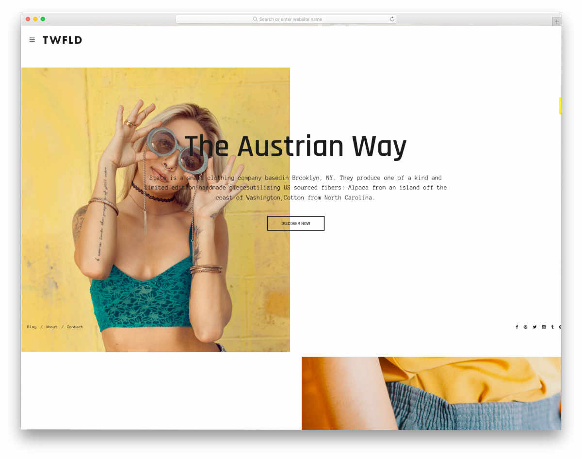 agency style website template
