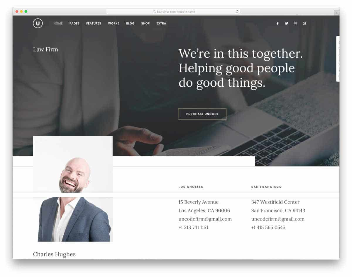 clean personal website templates for lawyers and notaries