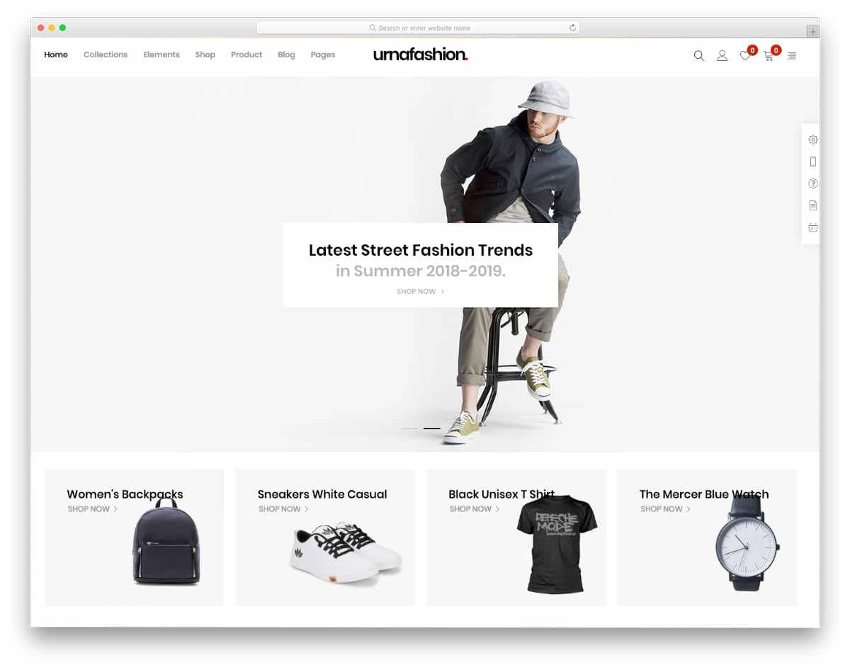 online store theme for clothes and apparels