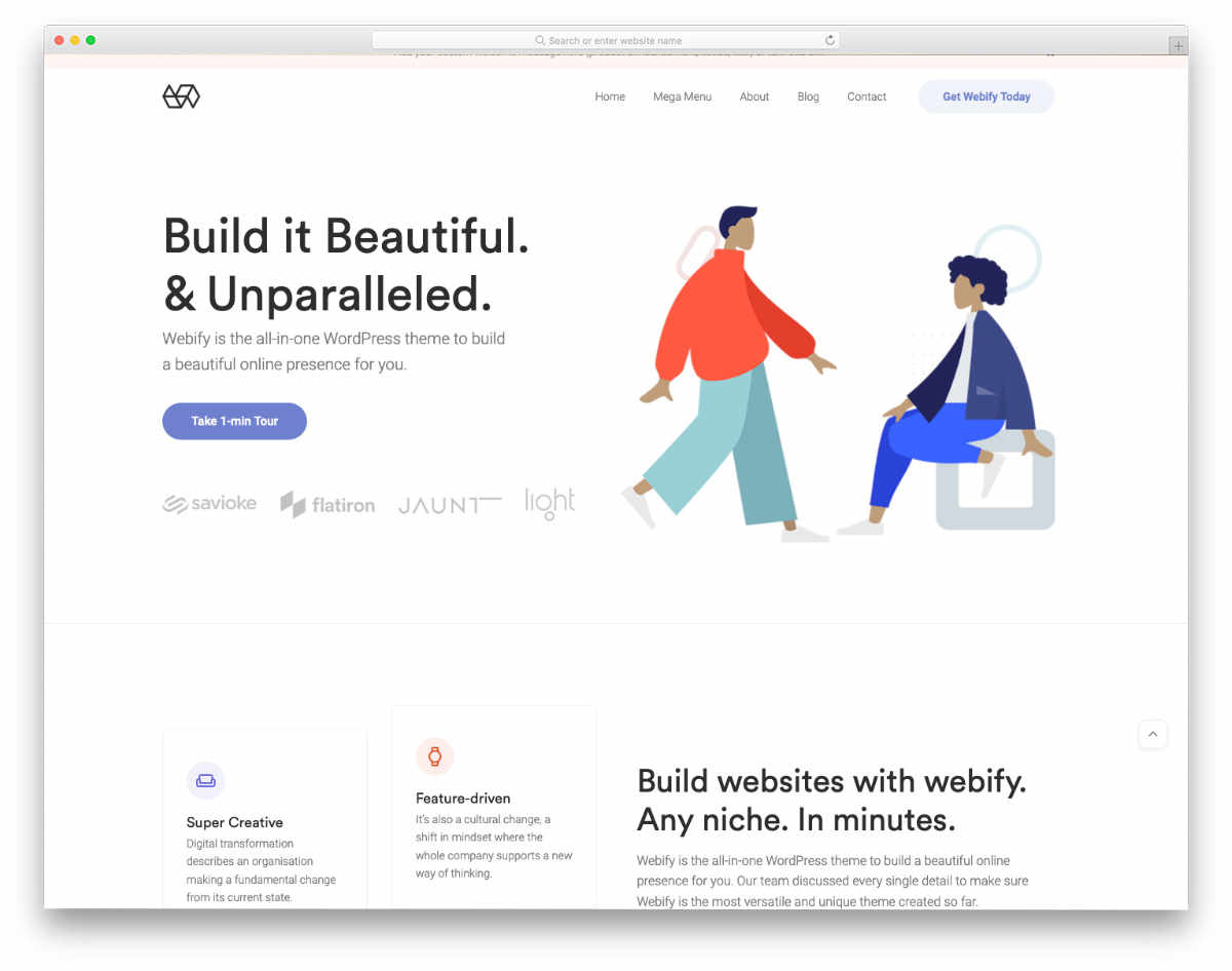 accessible business theme