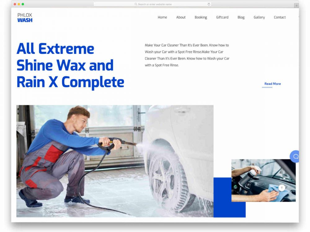 Auto Detailing Website Template