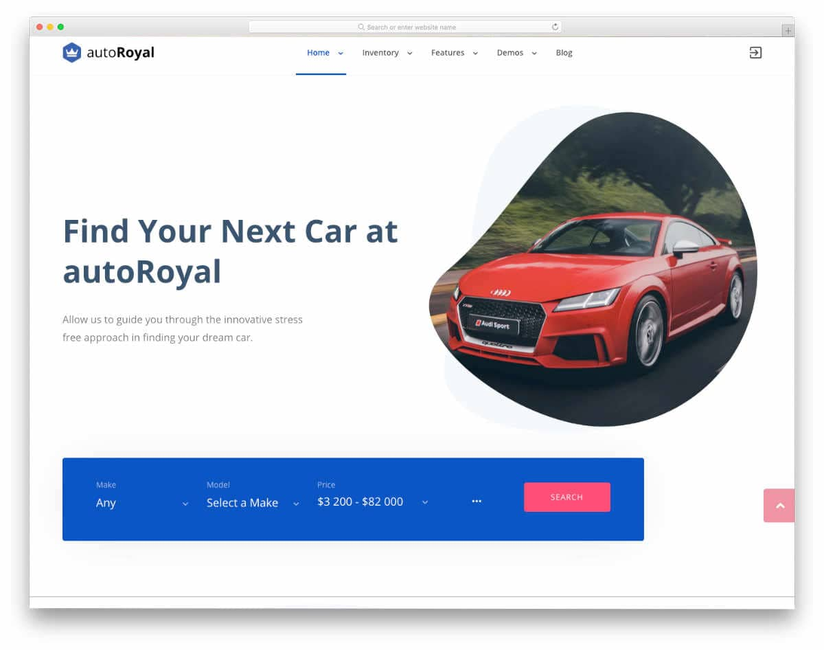 creative car dealer website template