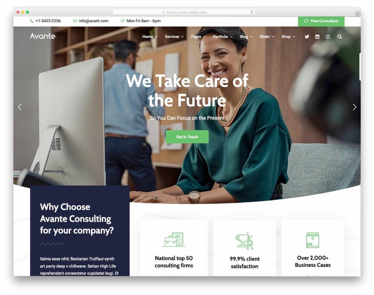 website template for modern entrepreneurs