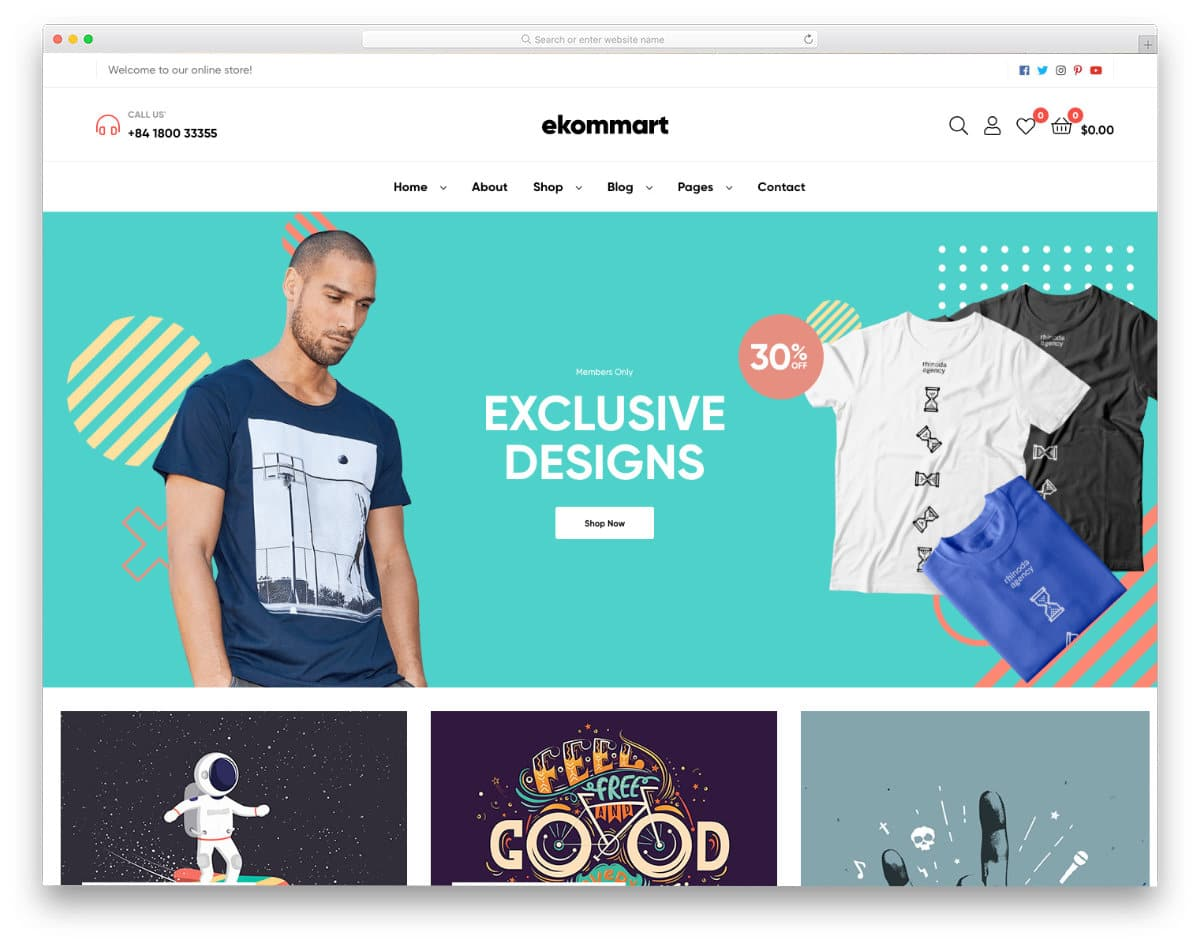 contemporary-style online store template