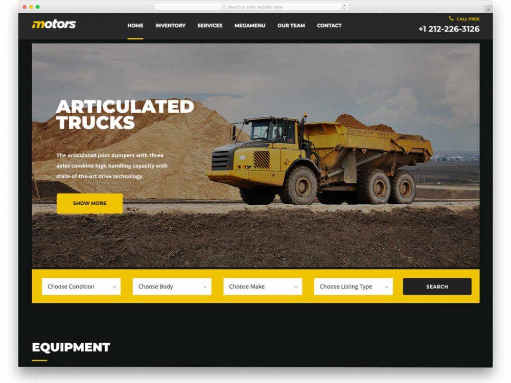 equipment-rental-website-template-featured-image