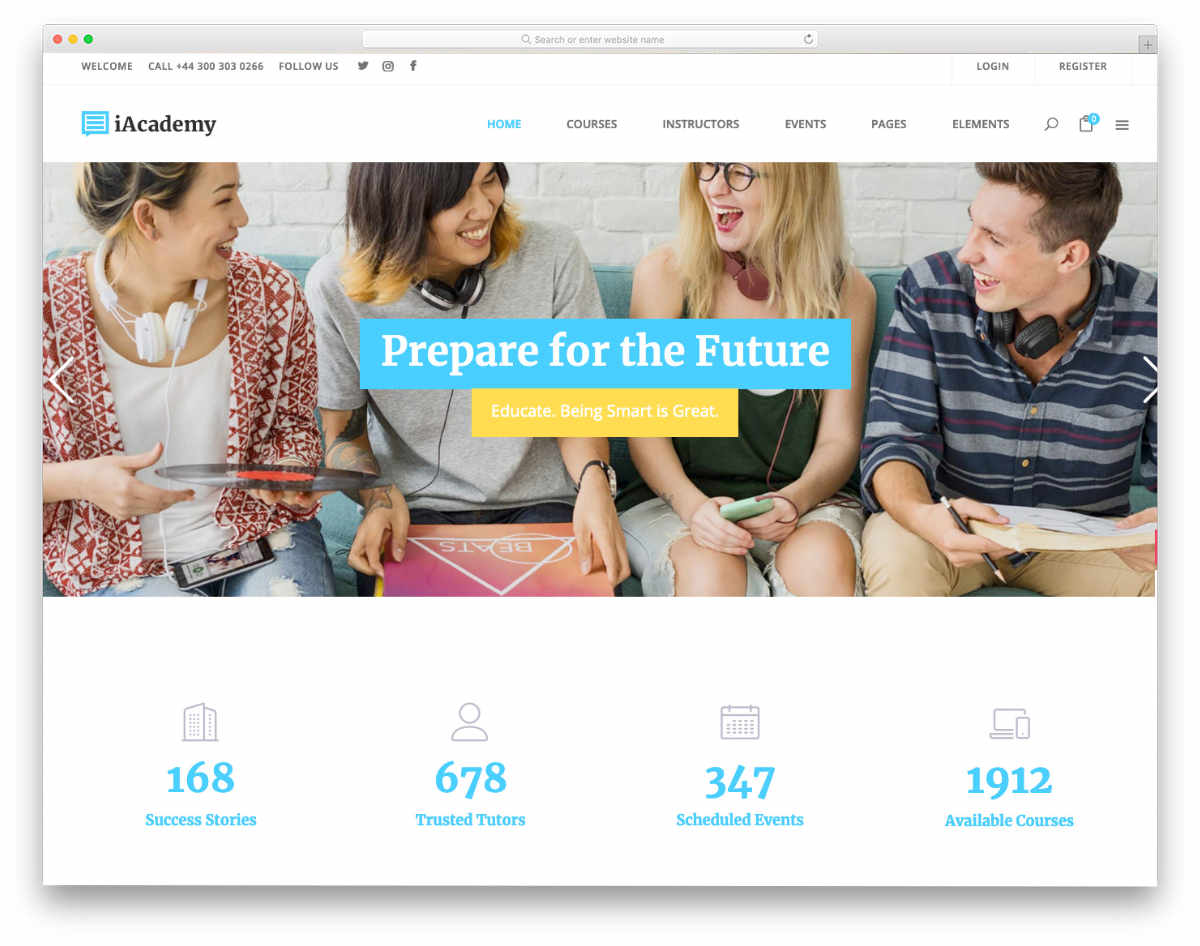 clean Online Course WordPress Themes