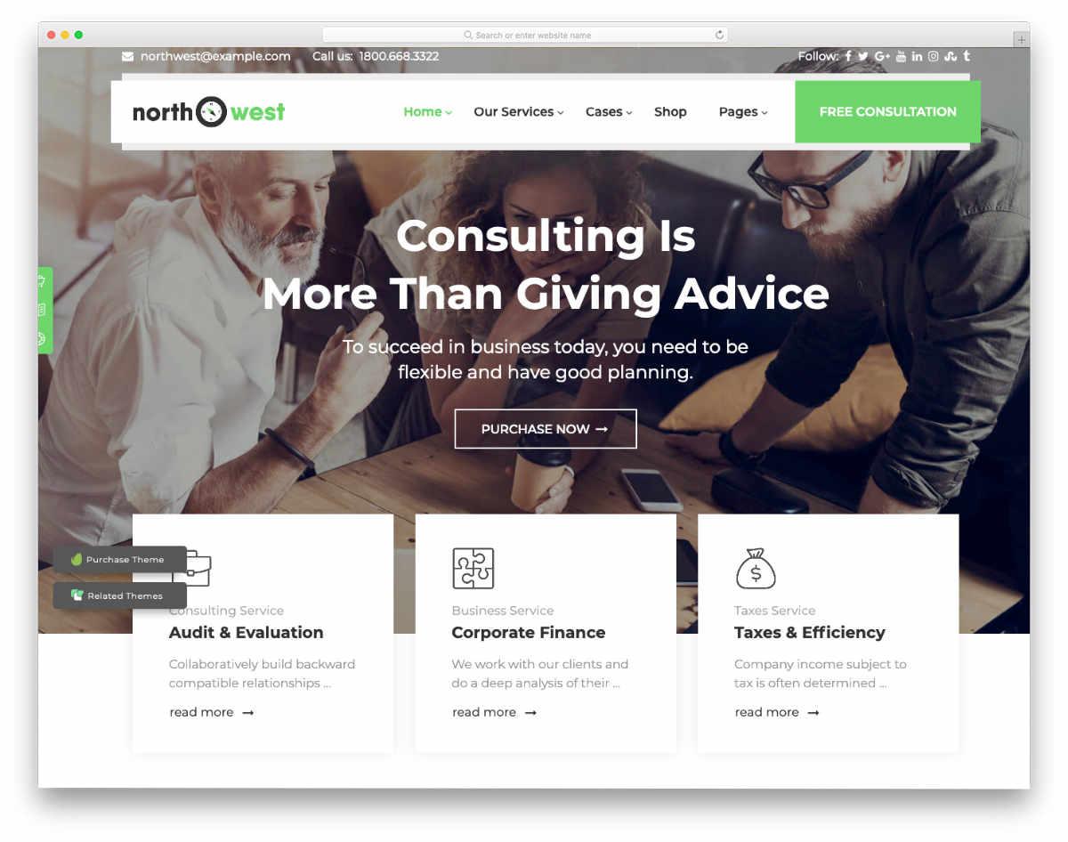 user-centric tax service website templates