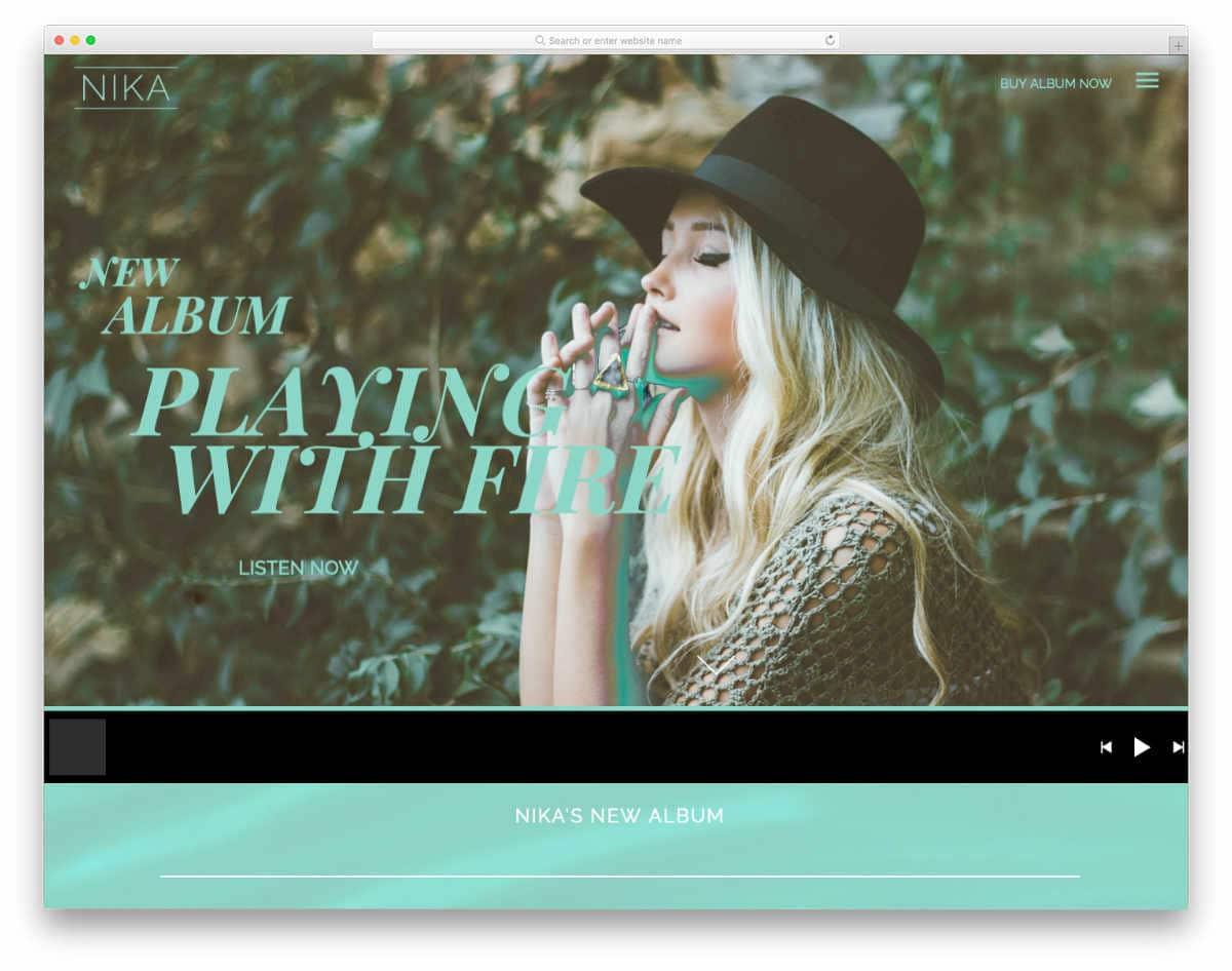 music streaming WordPress theme