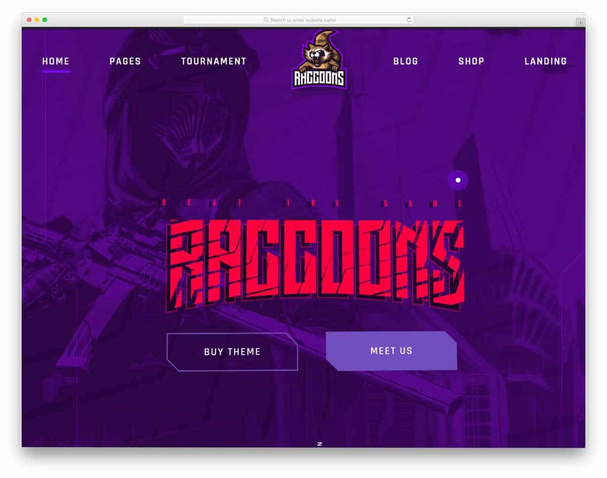 gaming and esport WordPress theme