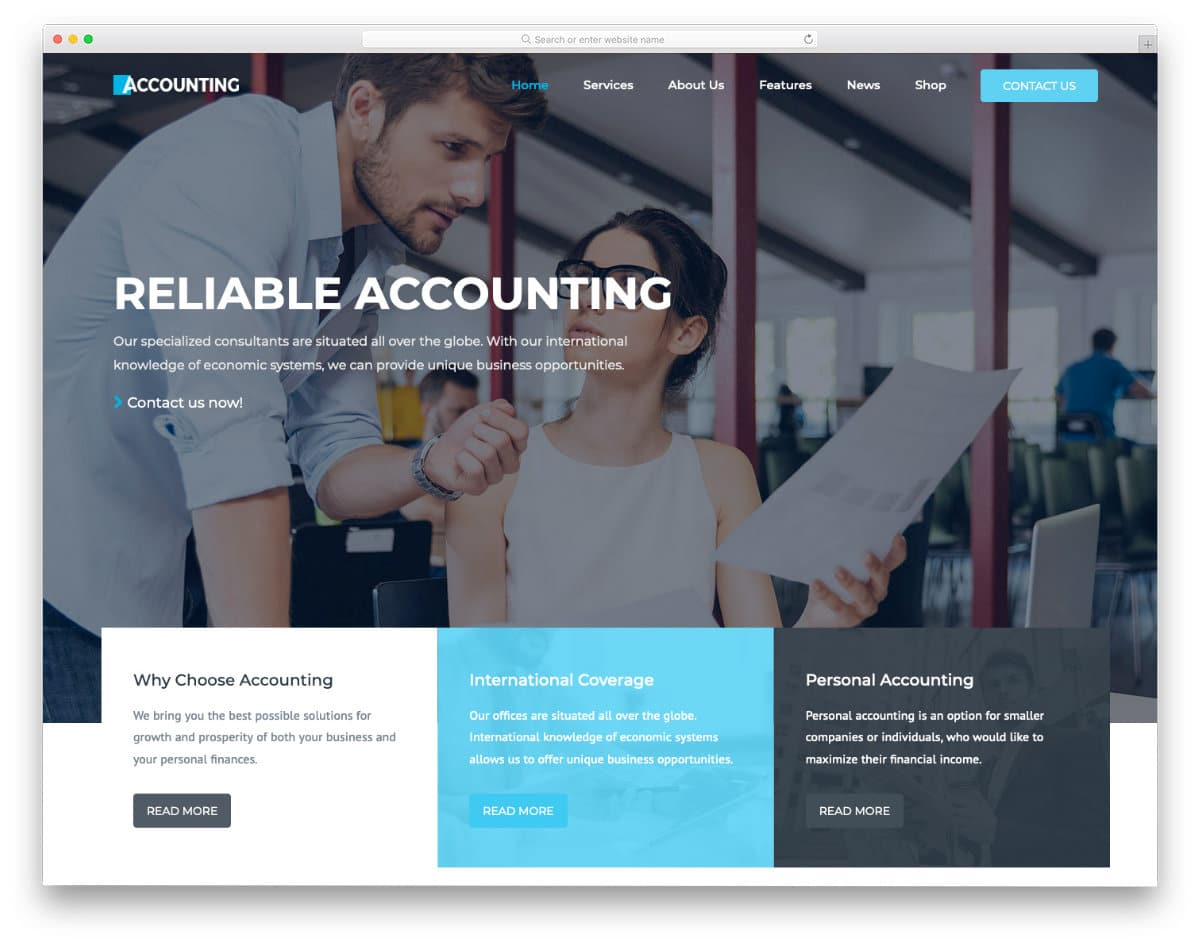 accounting and income tax service website template