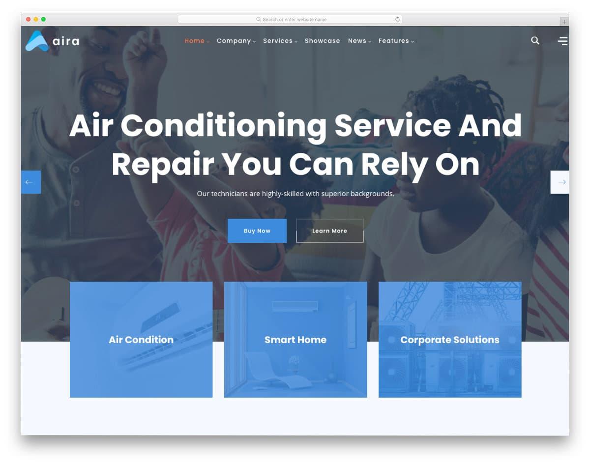 modern HVAC website template