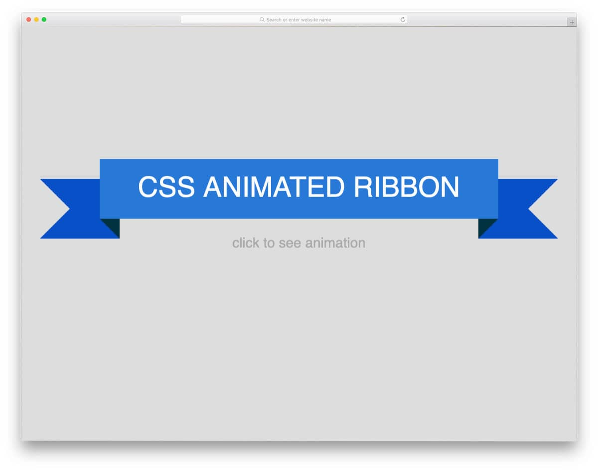 simple animated css ribbon