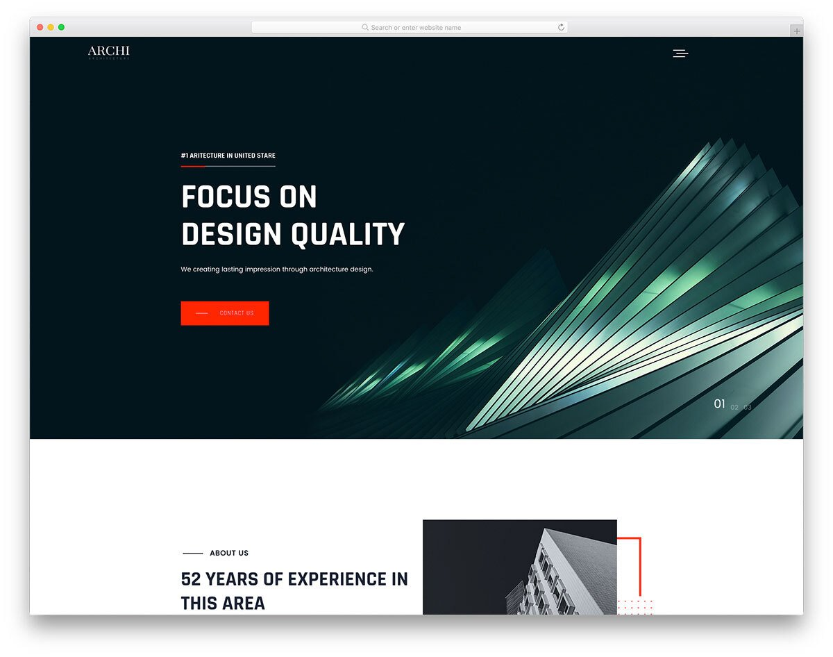 architect and interior design website template