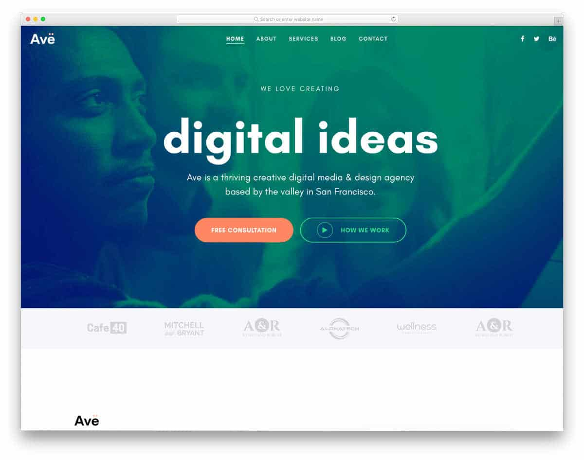 creative multuipurpose website template