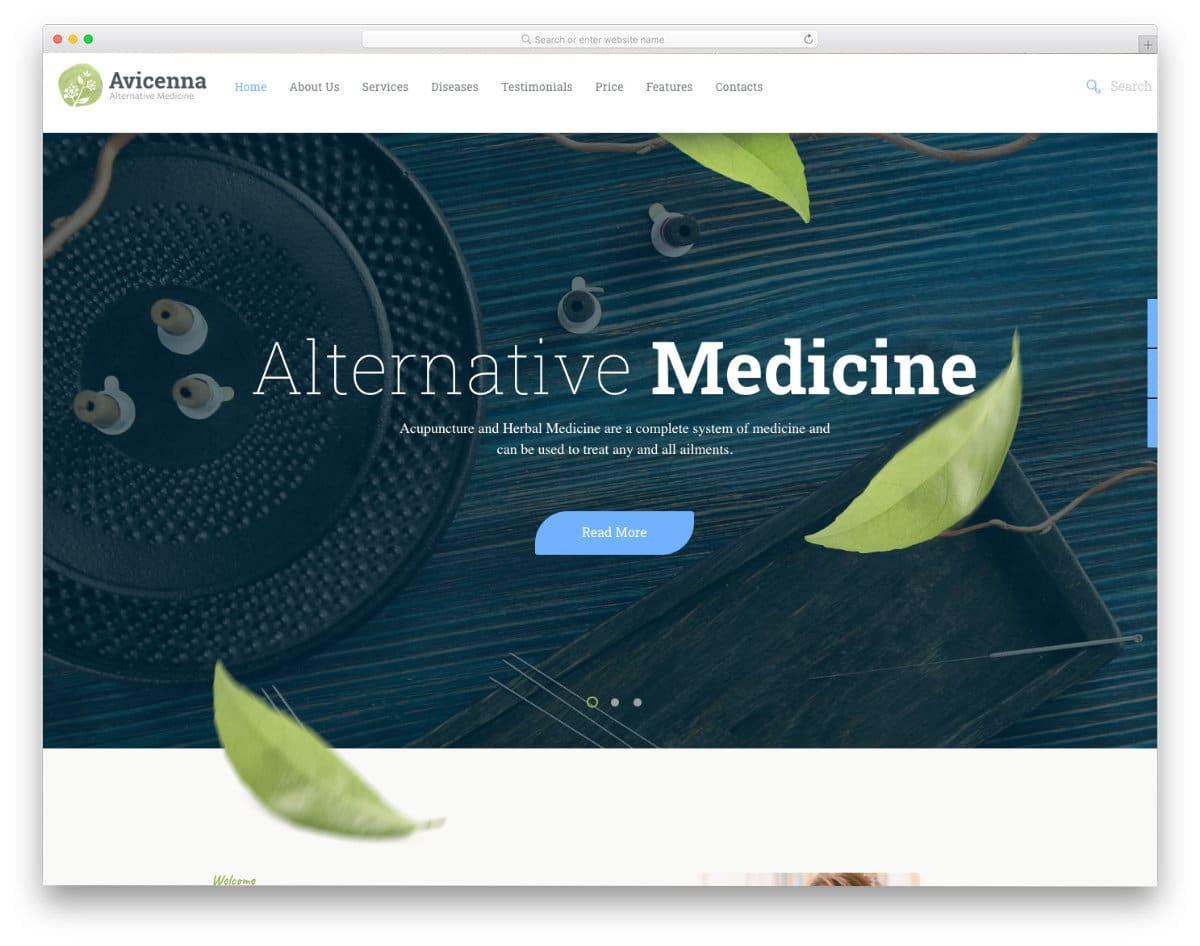 natural medicine website template