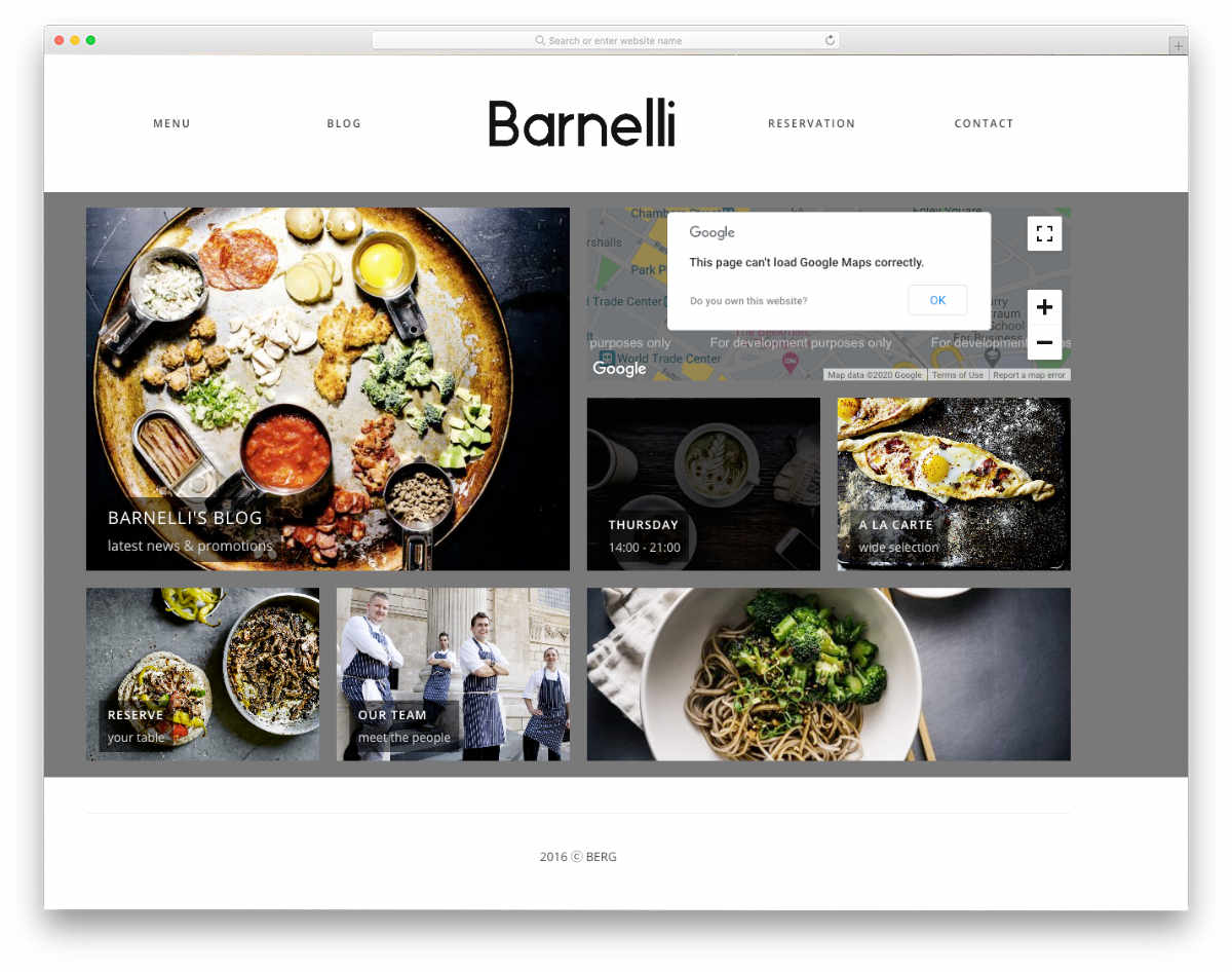 multipurpose restaurant WordPress theme