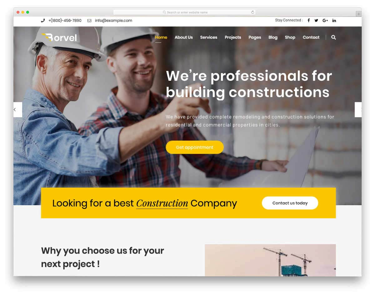 multipurpose construction business wordpress theme