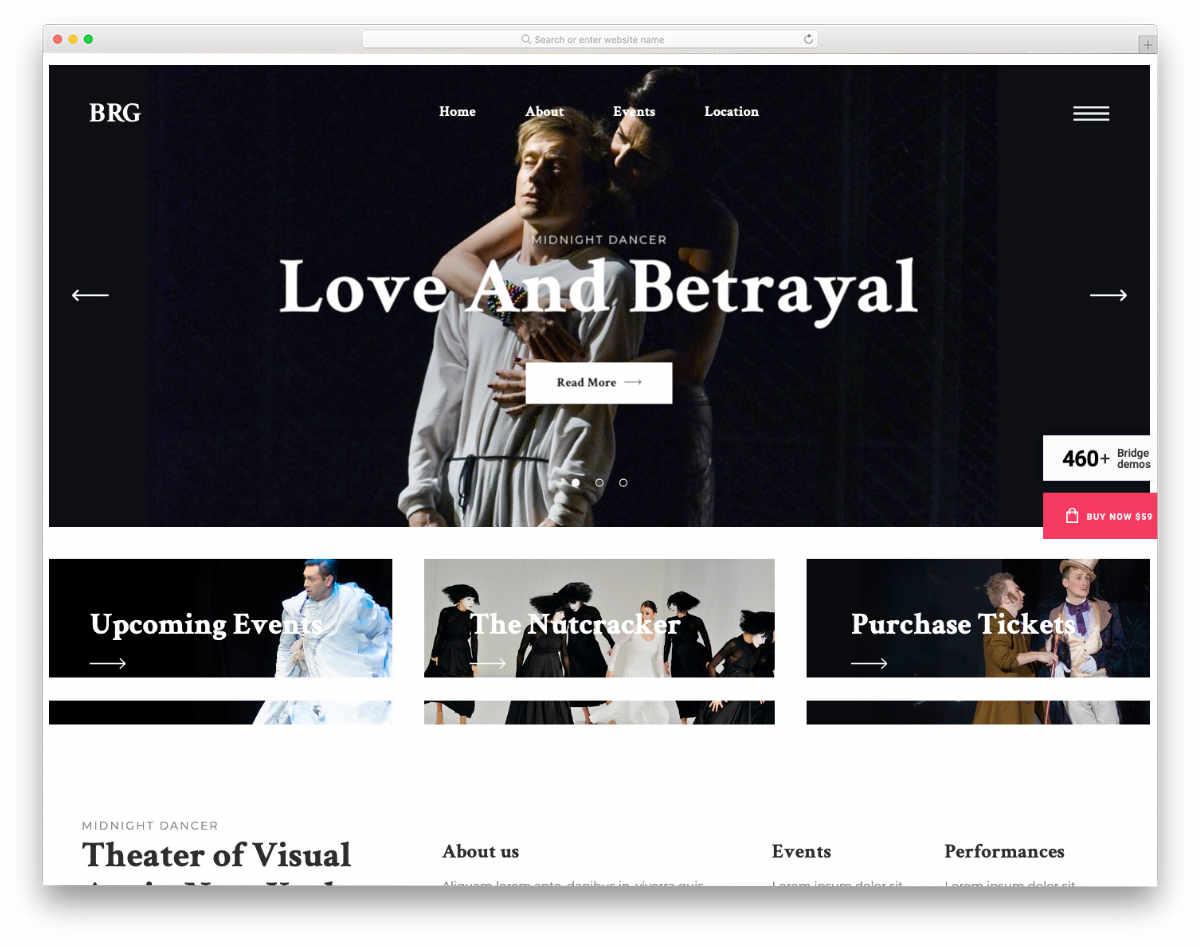 multipurpose actor website templates