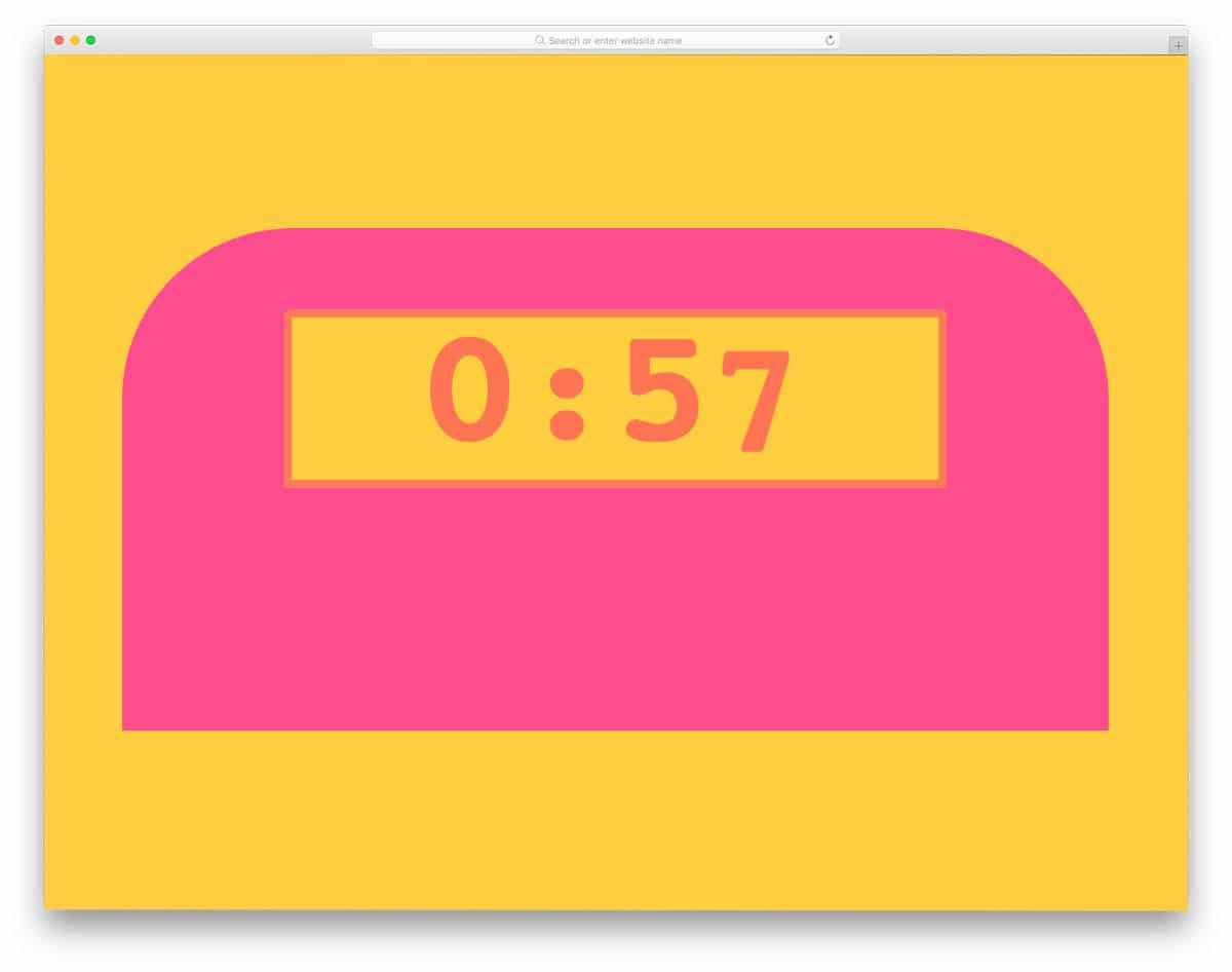 pure css countdown timer