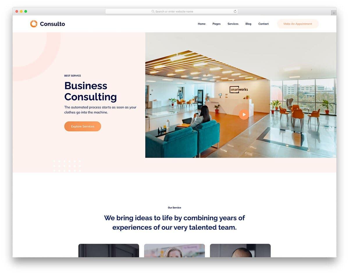 business HTML5 website template