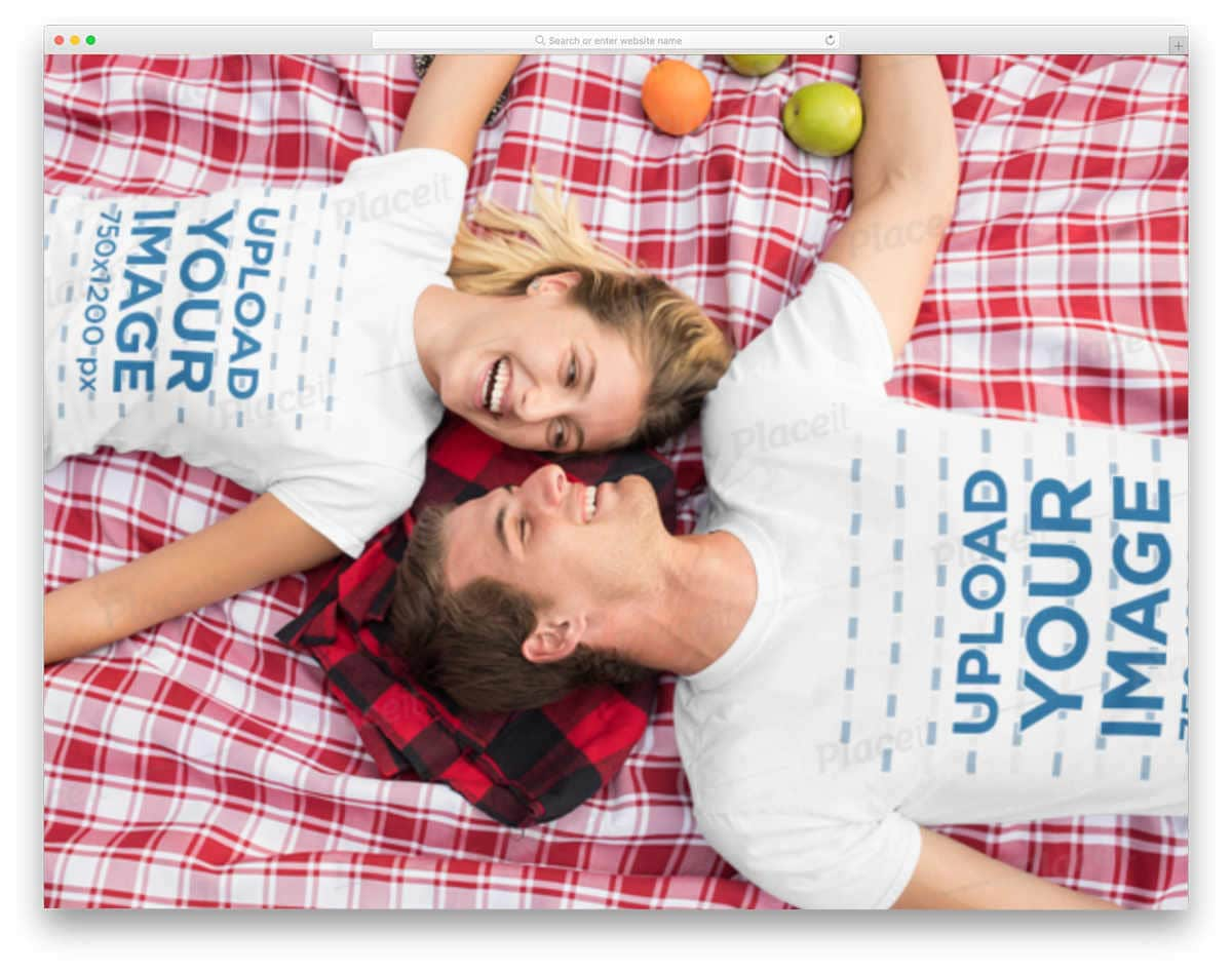 couples t-shirt mockup