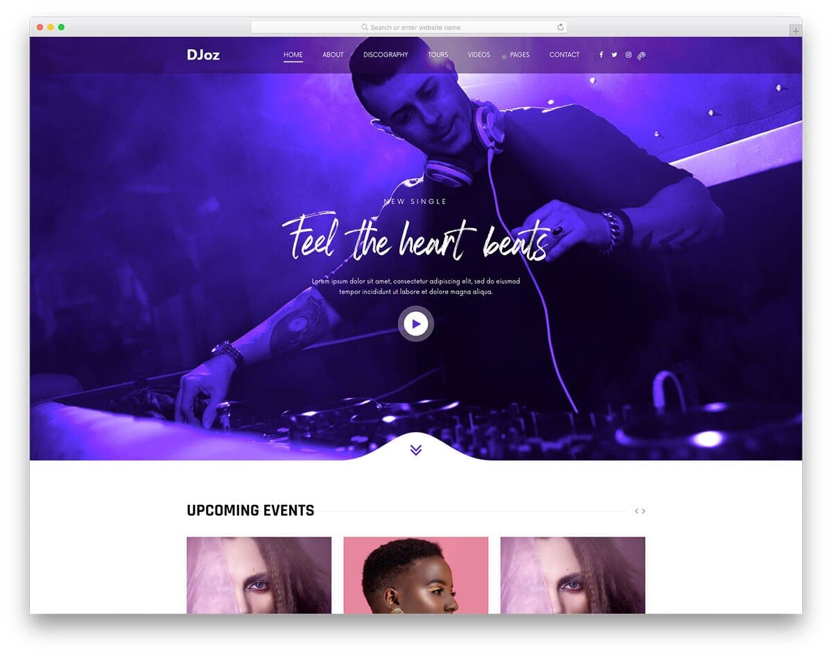 creative and interactive DJ website template