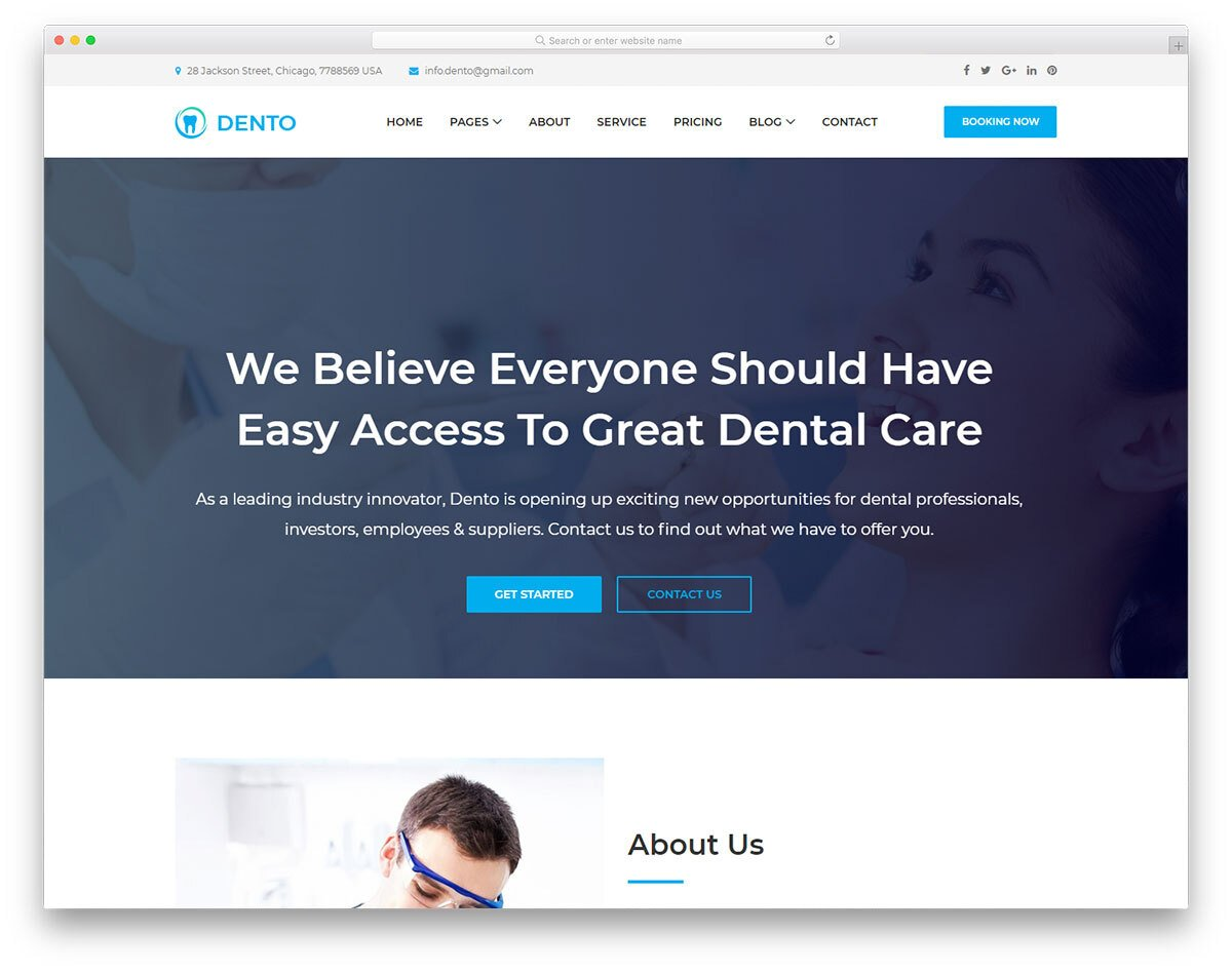 multipurpose dental clinic website template