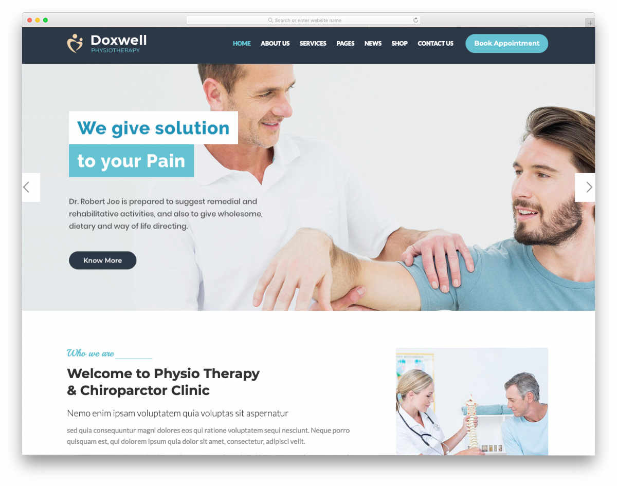 physiotherapy and acupuncture website templates