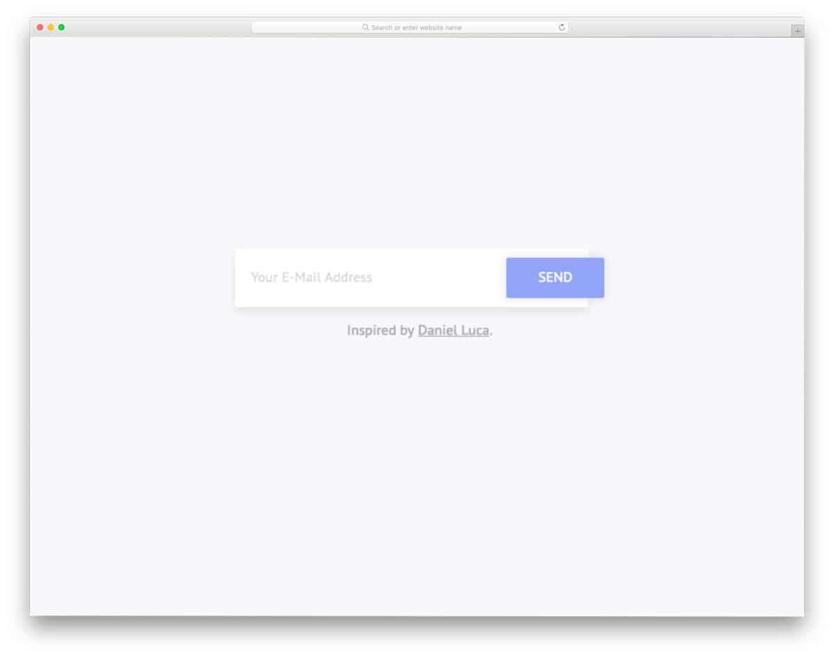 simple input text field design