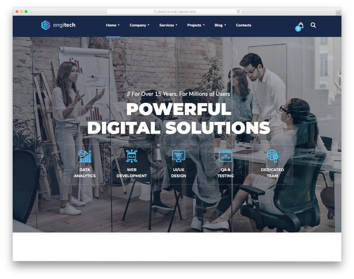 best virtual assistant website template for startups