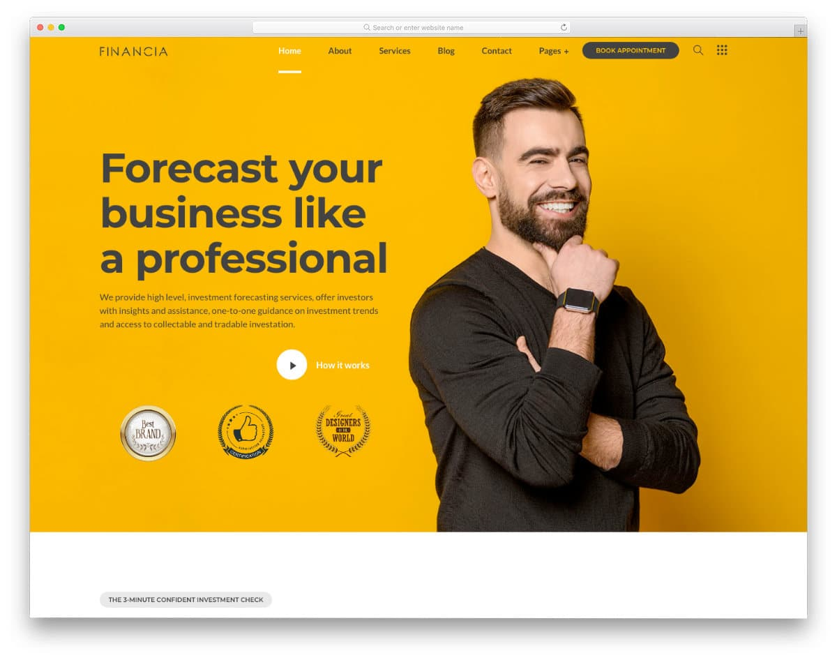multipurpose finance and investment website template
