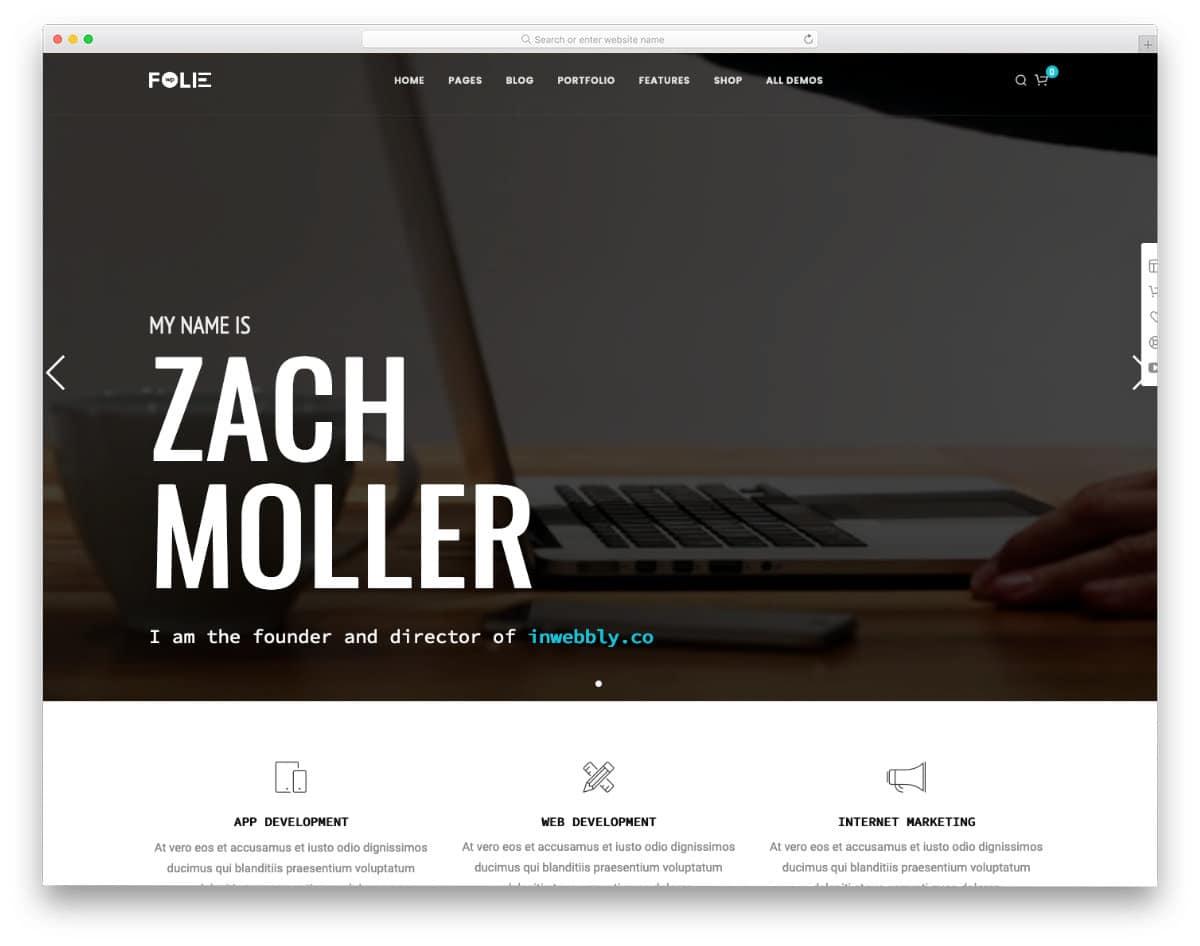 video background agency and portfolio theme