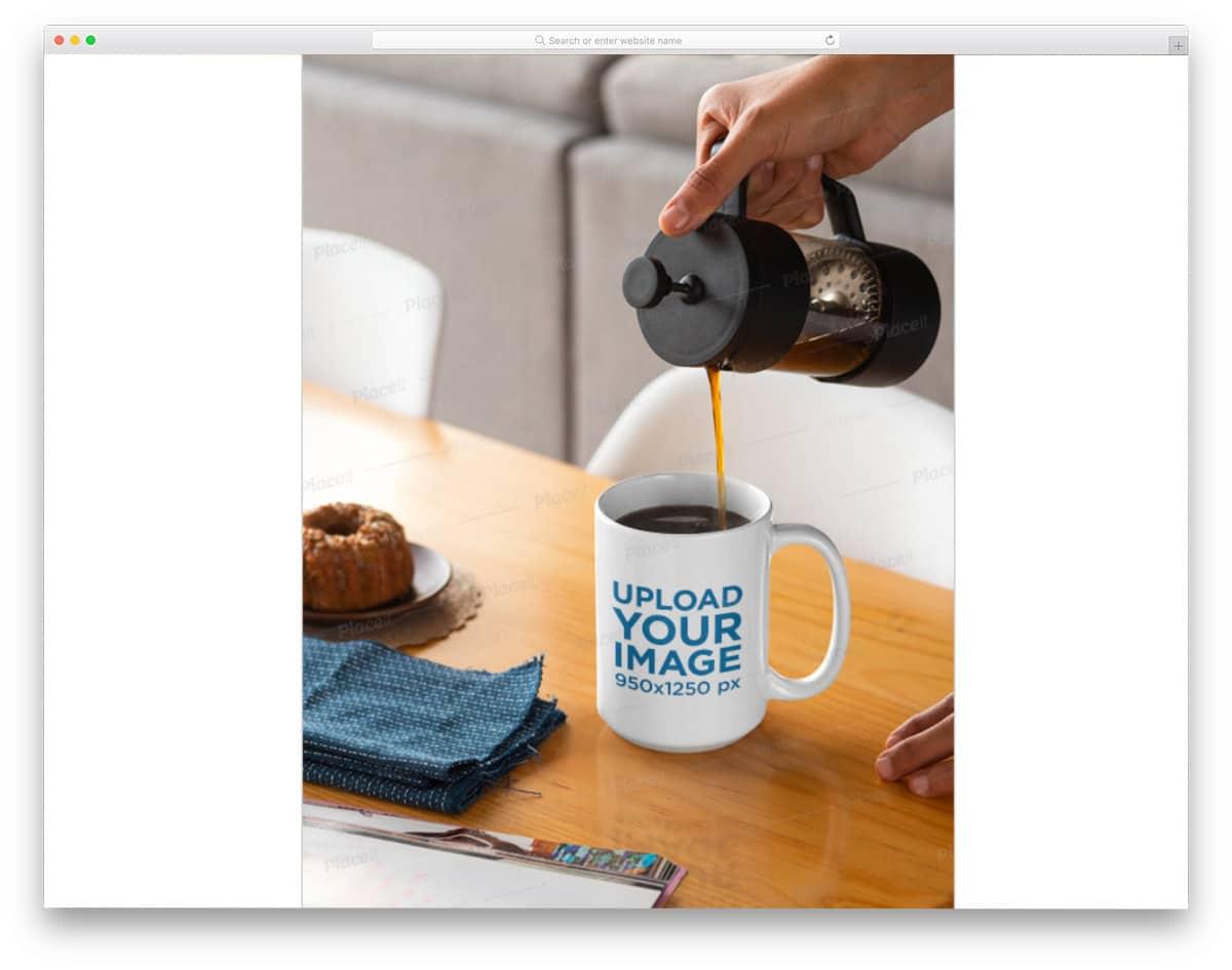 real world mug image mockup
