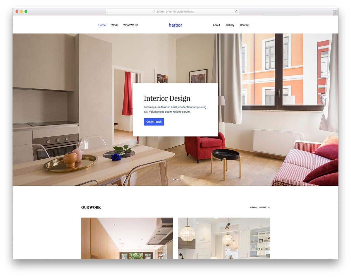 spacious website template
