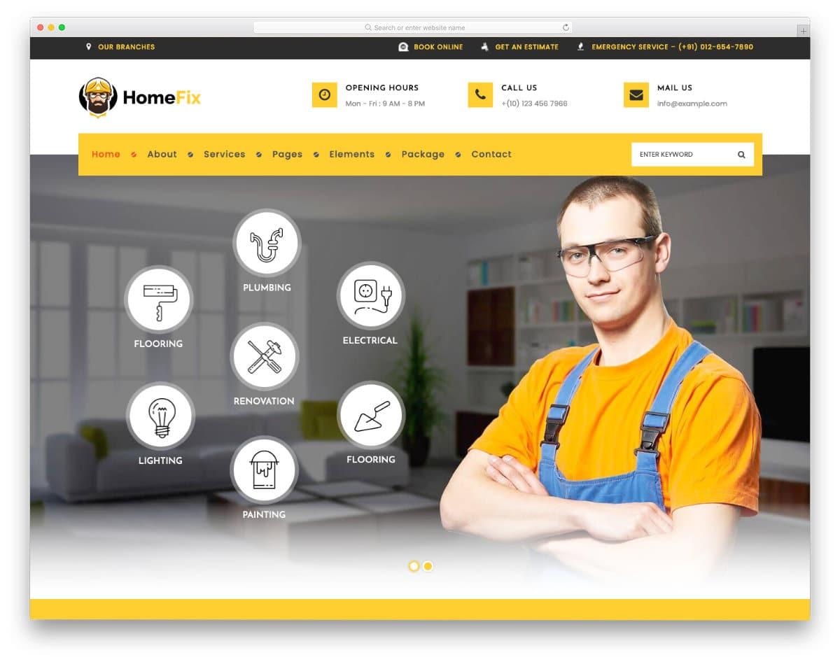 multipurpose house maintenance services website template