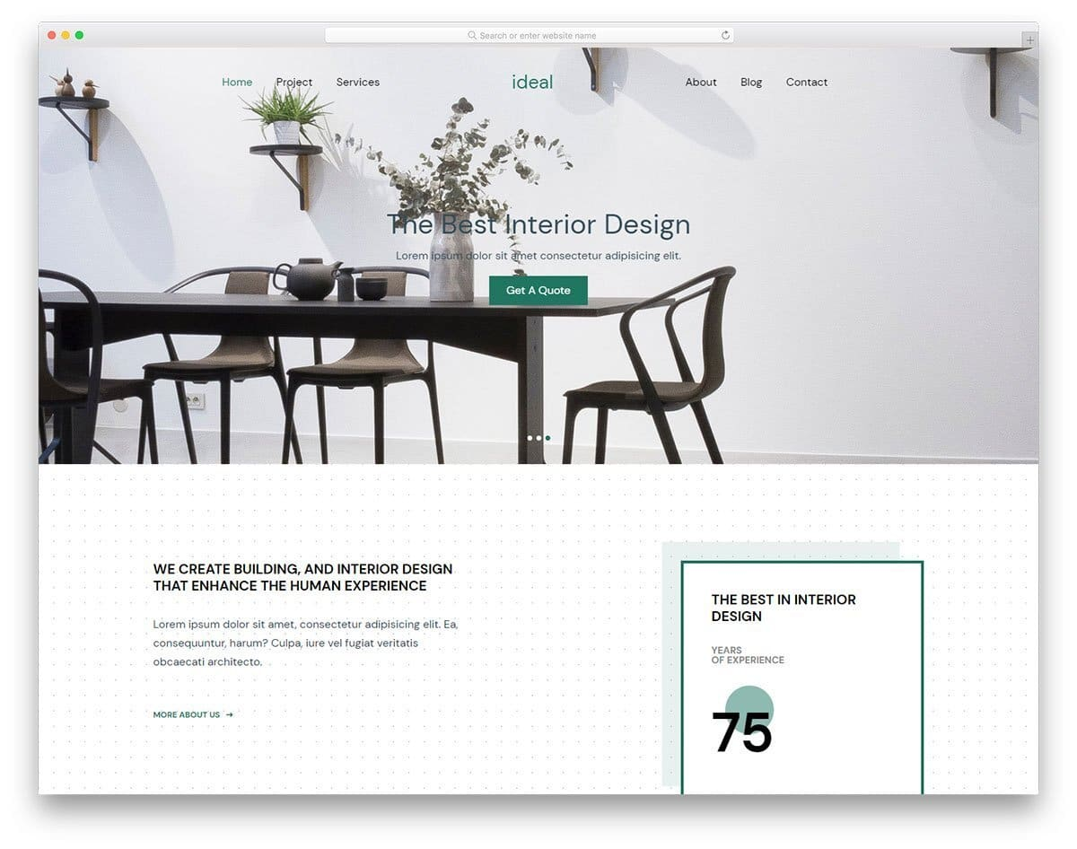 contemporary-style website template