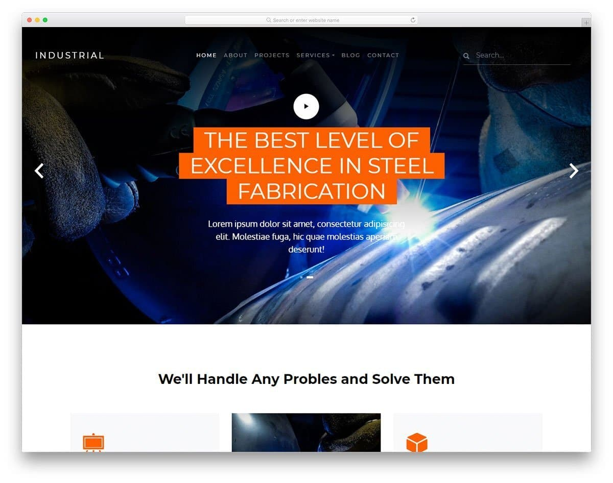 website template with video background