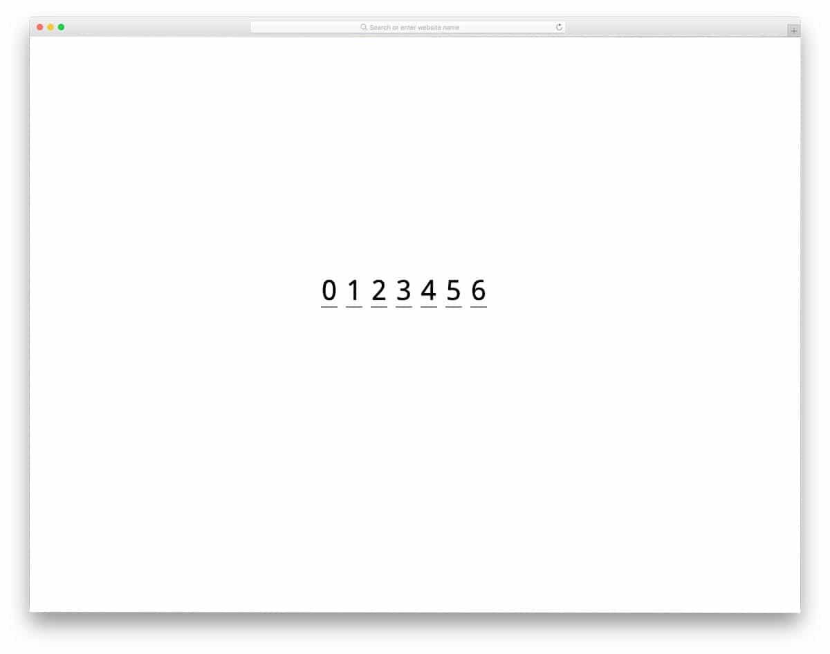 css input text field with broken lines