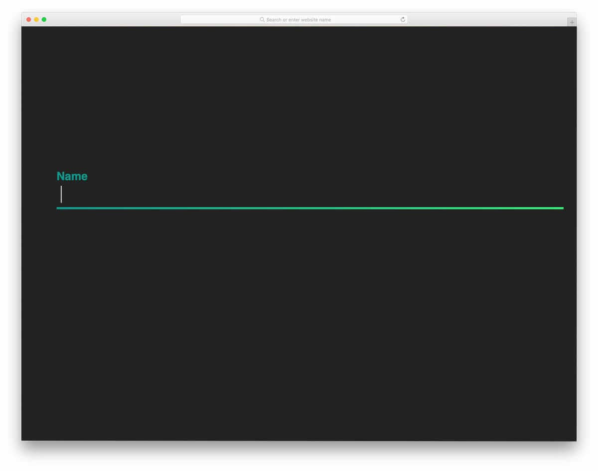 colorful input text field animation