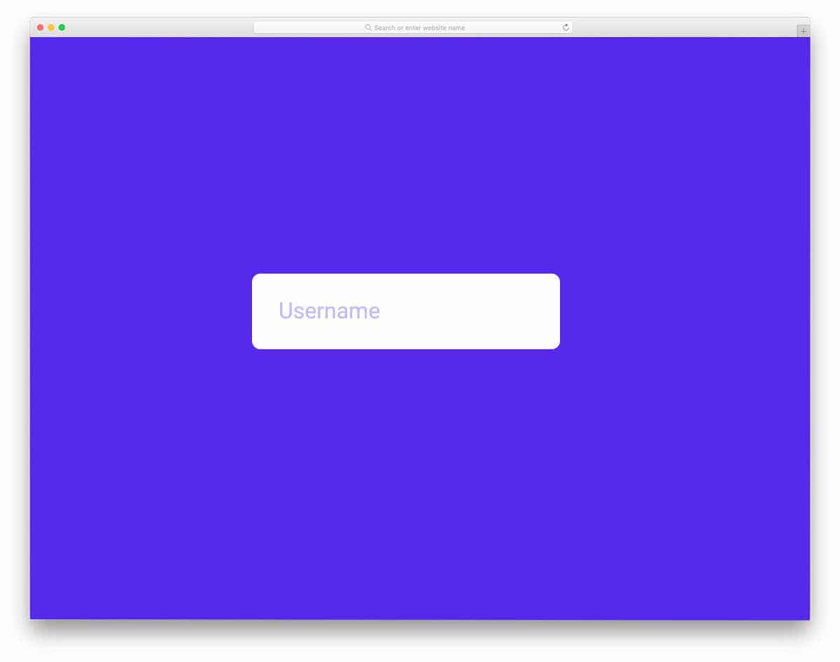 interactive modern input text animation